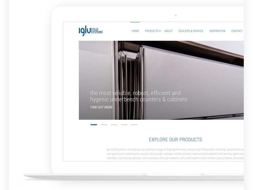 web-design project commercial refrigeration