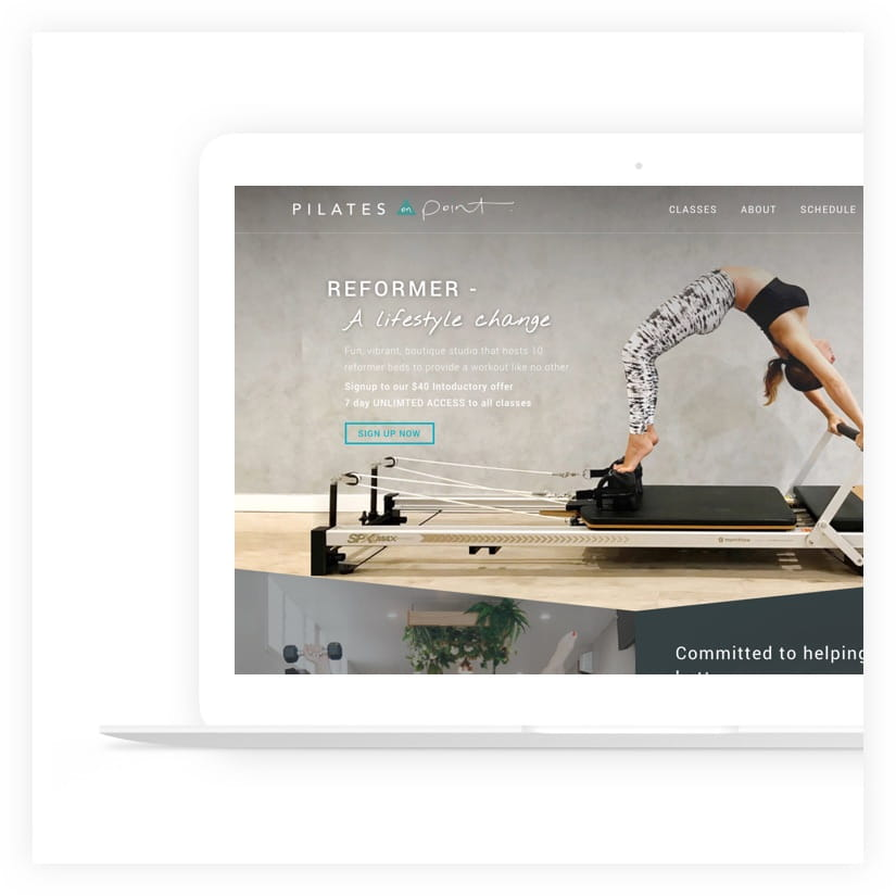 web design project pilates