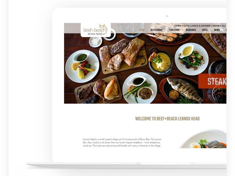 web design project restaurant