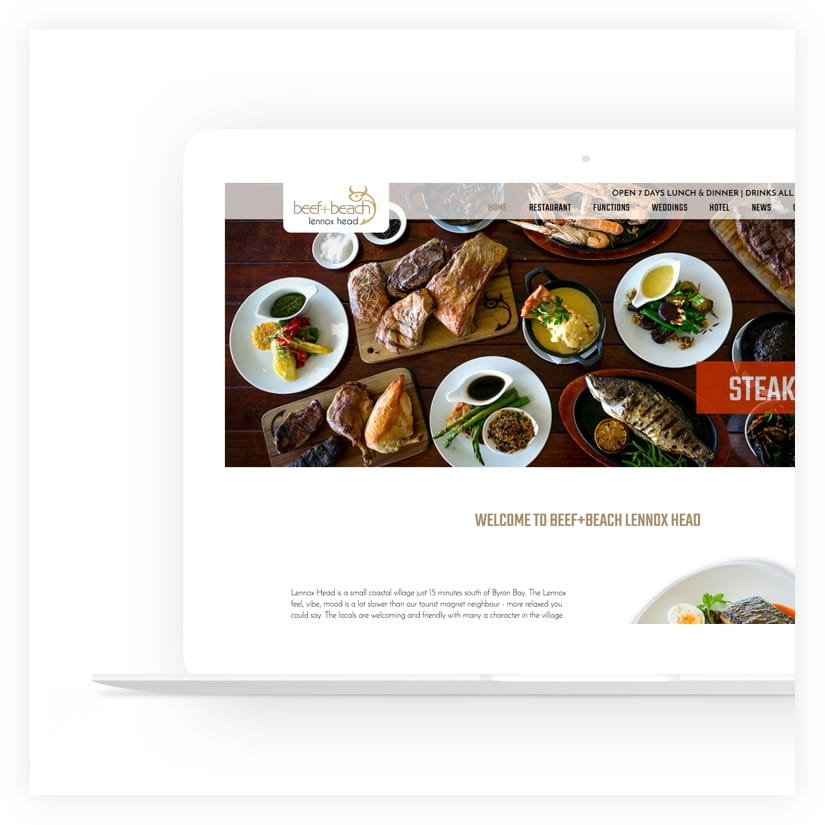 web design project restaurant
