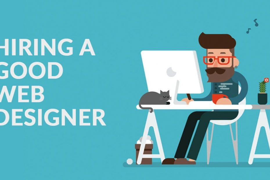 web designer working