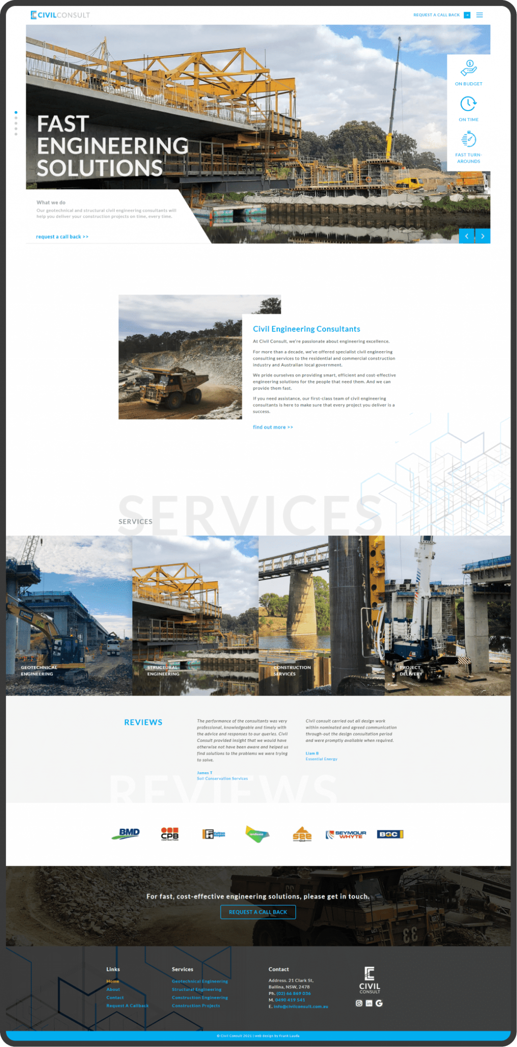 engineering website home page