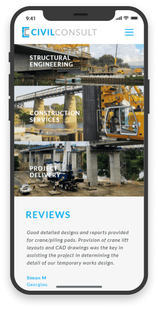 engineering website mobile services